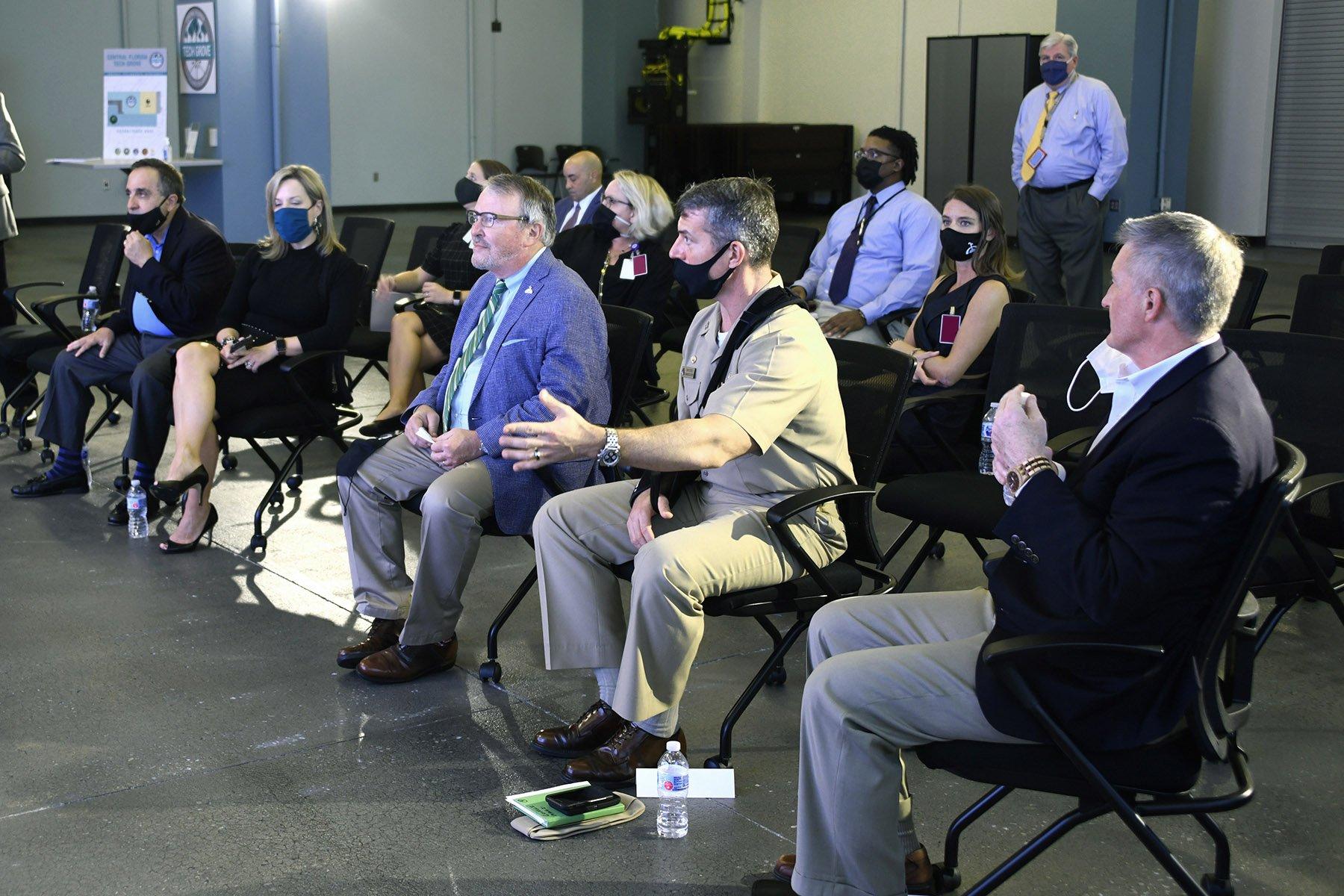 Mayor Dyer in Tech Grove