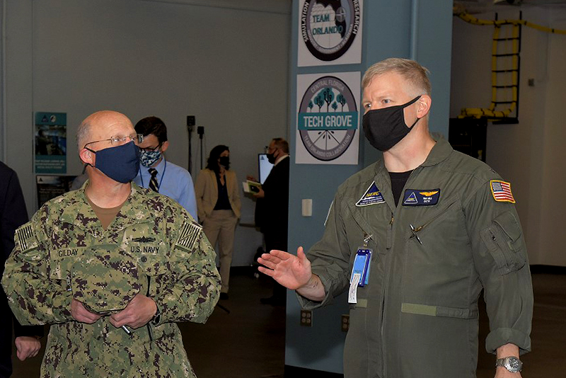 Chief of Naval Operations is Tech Grove's First Official Visitor